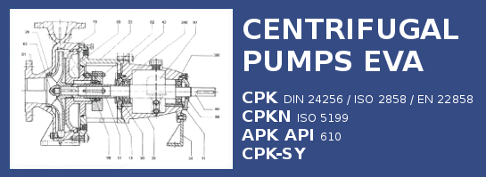 Centrifugal pumps CPK solution by EVA ESP Groupe